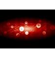 Dark red communication network wavy background vector image