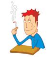 enjoy smoking cigarette vector image vector image