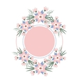 floral vignette in the form of a circle vector image