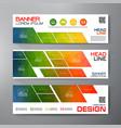 banners set for business modern design polygonal vector image