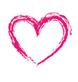 brush drawing heart love romance passion vector image