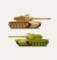 military tank army concept war weapon battle vector image