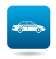 Taxi car icon in flat style vector image