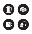 Tea icons set Black vector image
