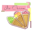 Card with ice-cream vector image
