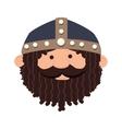 viking man cartoon vector image