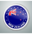 New Zealand flag label vector image