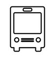 bus line icon navigation and transport sign vector image vector image