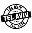 tel aviv black round grunge stamp vector image