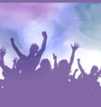 party crowd on a watercolour background vector image vector image