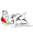 Bullfight vector image vector image