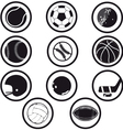 sport icons black and white vector image