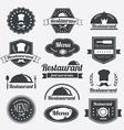 Retro restaurant vintage Insignias or logotypes vector image
