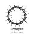 Jesus Crown of Thorns Logo vector image