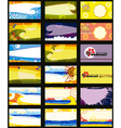 Business Card Set Horizontal vector image vector image