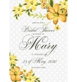 Bridal Shower Invitation with hibiskus flowers vector image