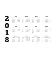 Simple calendar on 2018 year in spanish language vector image