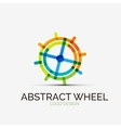 Abstract wheel company logo business concept vector image