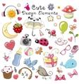 Cute design elements vector image