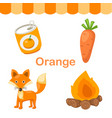 isolated color orange group vector image