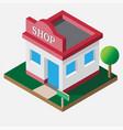 isometric shop open 24 hour vector image