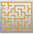 Small gray labyrinth vector image