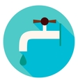 Water Faucet Circle Icon vector image