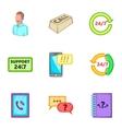 Consultation icons set cartoon style vector image