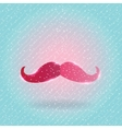 Christmas mustache on snow background vector image