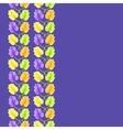 violet flower seamless pattern vector image vector image