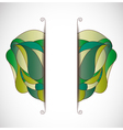 Green abstraction vector image vector image
