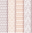 Set of four patterns vector image