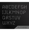 Graphic Alphabet Set vector image vector image