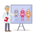Doctor Shows Type Human Body vector image