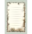 Burnt paper vector image