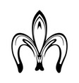 abstract fleur de lis icon isolated on white vector image