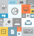 Business icons on color tiles vector image