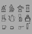 coffee manual brewers outline vector image