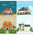 flat rent houses concept vector image