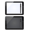 graphic tablet and pen vector image