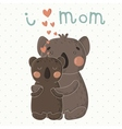 Greeting Card for Mothers Day with cute koalas vector image
