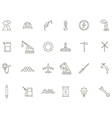 Industry black icons set vector image