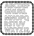 Metal Chain Alphabet Isolated on White vector image