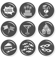Party time icon set vector image