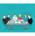Planning session People work at the table vector image