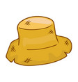 straw hat isolated vector image