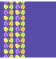 violet flower seamless pattern vector image