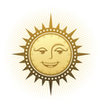 Ethnic laughing sun vector image vector image