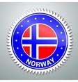 Norwegian flag label vector image