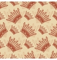 Vintage seamless background with crown pattern vector image